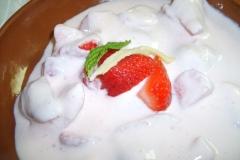 K-Nudel-Erdbeer-Quark-Desert